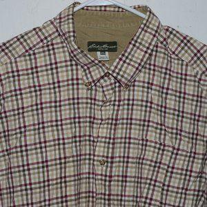 Eddie bauer mens button up shirt size 2 XL J860